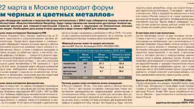 Photo of Публикация в ведомостях «Лом черных и цветных металлов 19-22 марта 2019 г.»