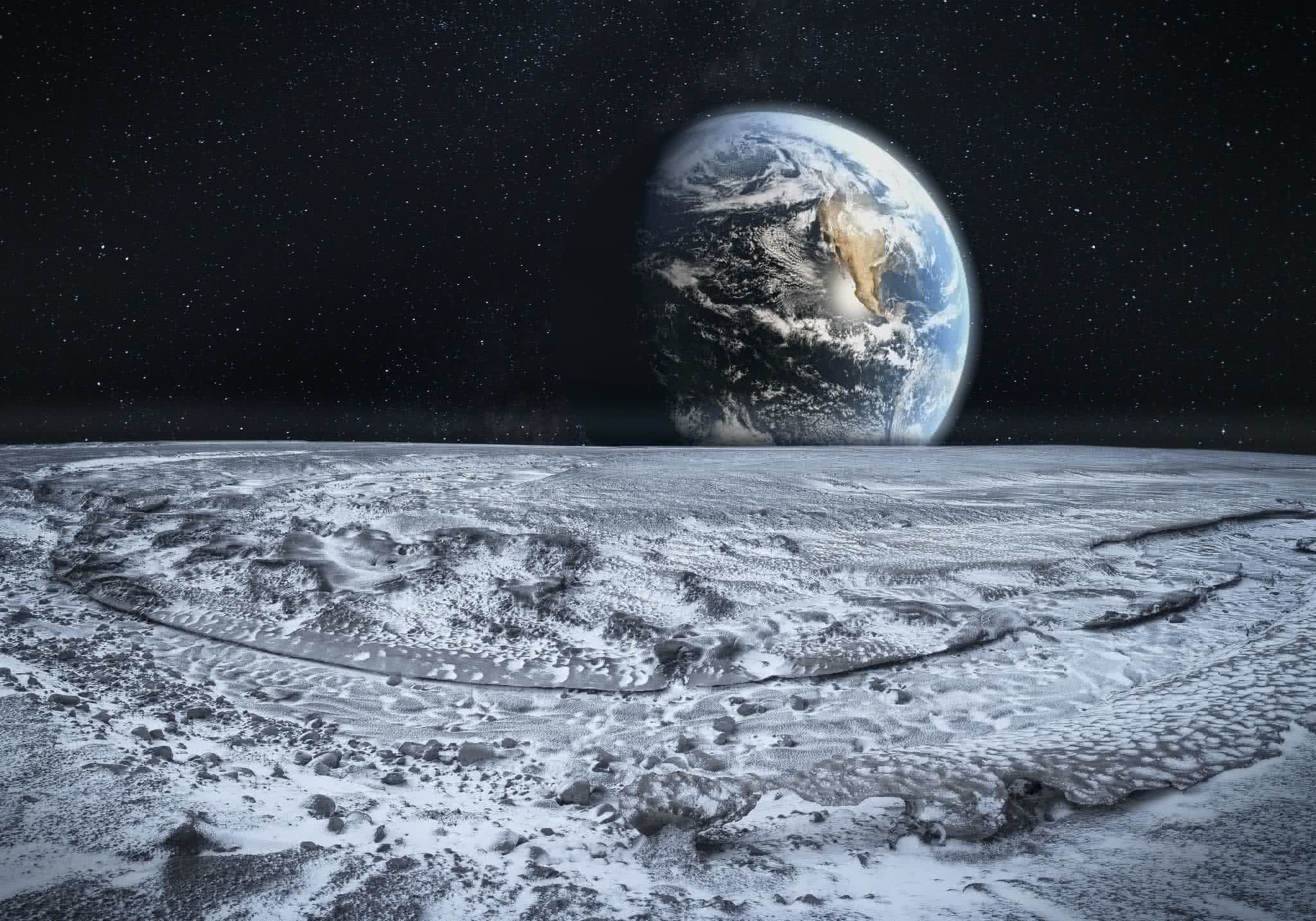 earth from the moon - HD2048×1433